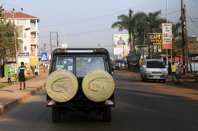 travel to uganda car with logo